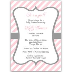 54 Best Girl Baby Shower Invitations Images Baby Shower Invites