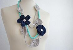Crea con noi : La collana a uncinetto Tutorial, Crochet Necklace, Drop Earrings, Jewelry, Fashion, Moda, Jewlery, Crochet Collar, Bijoux