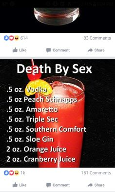 Death by sex cocktail