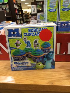 Monsters inc and university cupcake mix and toppers- seen in Barnes and nobles
