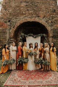 mismatched fall boho bridal party Related posts:Find High Quality Artificial Fall Wedding Flowers to Create Your Wedding Designs.Fall Wedding Ideas couples choose burgundy, gold or orange but if you want to stand out, you c. Perfect Wedding, Dream Wedding, Wedding Day, Party Wedding, Wedding Rustic, Boho Wedding Shoes, Boho Chic Wedding Dress, Bohemian Chic Weddings, Gypsy Wedding