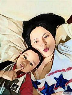 MAHESA & MOM..