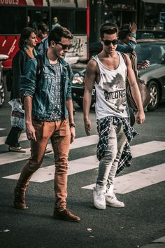 Like the look on the left, but the guy on the right is too old to be wearing those clothes