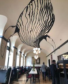 Big whale invading a classic coffee spot )) big B&; Big whale invading a classic coffee spot )) big B&; homeless homeless Big whale invading a classic coffee spot […] classic Deco Design, Cafe Design, House Design, Interior Design, Luxury Interior, Big Whale, Whale Sharks, Wall Drawing, Wall Art