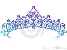 Sketchy Princess Tiara Crown Notebook Doodles by Blue67, via Dreamstime