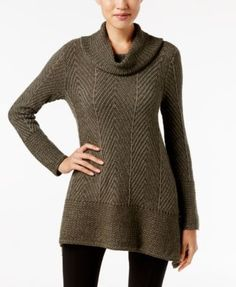 Jeanne Pierre Herringbone Tunic Sweater
