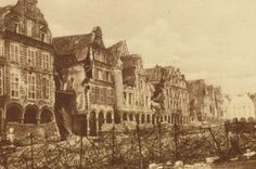 Ruined houses in Arras, France