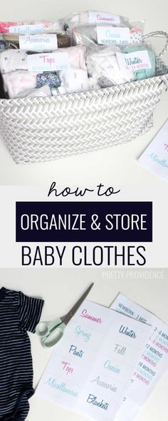Okay best/easiest way to organize baby clothes to use for another kid. It's so SIMPLE! Why did I not think of this myself!? Totally doing this ASAP.