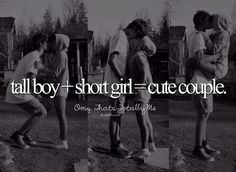 And short girls love tall guys Cute Couple Quotes, Cute Couple Pictures, Cute Quotes, Boy Quotes, Couple Pics, Funny Quotes, Tall Boy Short Girl, Tall Boys, Short Girls