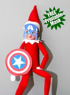 Help your elf join The Avengers by downloading the free printable here.