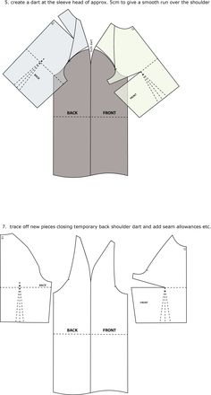 Introduction to Pattern Cutting: Raglan Sleeve – House of JoRaglan Sleeve Drafting Instructions PART a set in sleeve to a raglan sleeveRaglan sleeves are traditionally used in sports and active wear but can be used in a range of garment Sewing Basics, Sewing Hacks, Sewing Tutorials, Sewing Projects, Techniques Couture, Sewing Techniques, Pattern Cutting, Pattern Making, Sewing Patterns Free