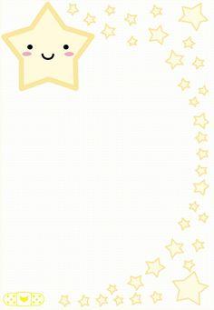 Little Star stationary Kids Background, Cartoon Background, Borders For Paper, Borders And Frames, Orla Infantil, Scrapbook Paper, Scrapbooking, Printable Lined Paper, Note Memo