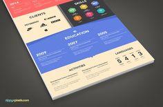 2 Creative & 2 Simplistic Resume Templates | ZippyPixels