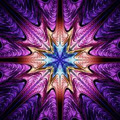 Splat by rosshilbert on DeviantArt Fractal Design, Fractal Images, Fractal Art, Purple Art, Psychedelic Art, Optical Illusions, Sacred Geometry, Art Pictures, Photos