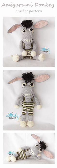 Donkey crochet pattern by Lovely Baby Gift