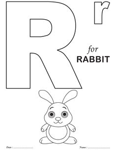 printables alphabet r coloring sheets - Alphabet Coloring Sheets