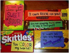Candy with notes