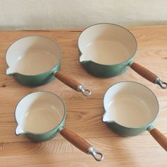 le creuset saucepans with wood handles