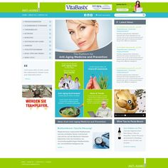 Anti-Aging News Website Redesign by WEBGATEWAY