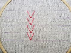 Sarah Whittle - Contemporary Embroidery Artist: Arrowhead Stitch Tutorial