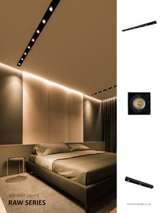 The slim elongated spotlights offer considerable light output that enhances every inch of any interior space.  The sleek dimensions of this range makes them ideal to create discreet architectural accents on your ceiling. With its flawless design it will contemplate the need for design or decorative approach, offering excellent lighting performance for vast indoor areas. #spotlights #indoorlights
