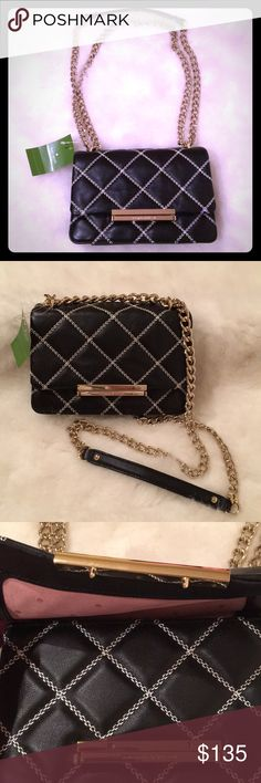 NWT Kate Spade Mini Lawren Quilted Leather Bag NWT Emerson Place-Mini Lawren crossbody bag. Quilted black leather. Purchased this bag at Nordstrom. Last photo reflects details of bag. kate spade Bags Crossbody Bags