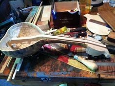 Nicola Handmade Music: Ukelele gourd build pics