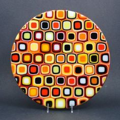 Glass artist Sandy Chisholm..love this piece...color combo perfect