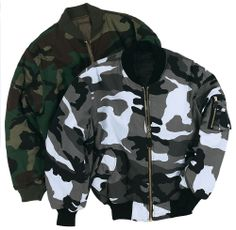 MA1 Flight Bomber Jacket US Combat Military Pilot Skin Mod Bikers Airforce Camo