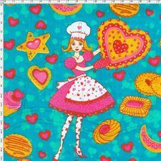 Tecido Estampado para Patchwork - 18355 Biscoitos 01  100% Algodão -1,40m de largura  Fabricante:  Estilotex