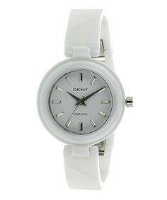 Take a look at this White Ceramic Watch - Women by DKNY on #zulily today!