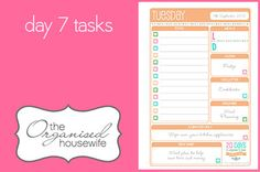 {The Organised Housewife} 20 Days to Organise & Clean your Home Challenge Day 7