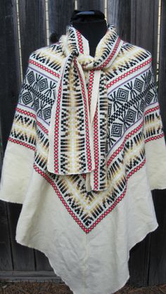 poncho with pattern
