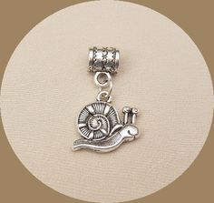 Silver+Snail+Dangle+Charm+Cute+Animal+Pendant+With+by+jewelryplace,+$7.00