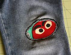 Sparklinbecks: Patching up those jeans