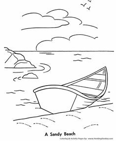 Kids Summer Coloring Pages Free Printable Fun At The Shore Featuring Book Page Sheets