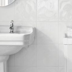 Wickes Bumpy White Gloss Ceramic Wall Tile 200 x 200mm | Wickes.co.uk