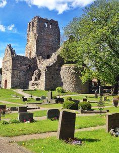 St. Olof's Church Ruin in Sigtuna Sweden.