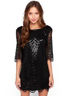 Black Half Sleeve Hollow Backless Dress 39.33