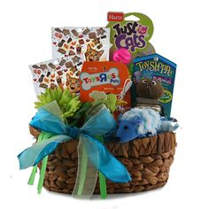 photos of gift baskets for your pets | ... Got Your Tongue Pet Gift Basket Cat @ Design It Yourself Gift Baskets