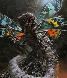 White bonemonster by mingrutu on deviantART, monster, creature, evil, insect, digital art