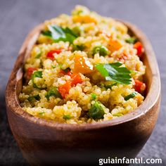 Quinoa with Vegetables. Easy and nutritious recipes – Dinner Recipes Quinoa Flour Recipes, Quinoa Recipes Easy, Healthy Crockpot Recipes, Healthy Eating Recipes, Nutritious Meals, Vegetable Recipes, Vegetarian Recipes, Avacado Dinner, Coliflower Recipes