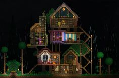 Nothing is impossible in this action-packed adventure game. The world is your canvas and the ground itself is your paint. Terraria House Design, Terraria House Ideas, Terraria Tips, Animal House, Minecraft Buildings, Animal Crossing, Pixel Art, Art Inspo, Adventure Game