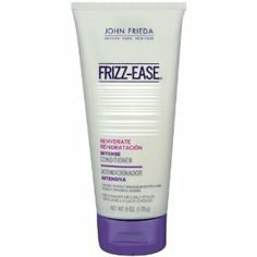 John Frieda Frizz Ease Rehydrate Intensive Deep Conditioner, 6 Ounce (Pack of 2) by John Frieda. $9.98. Ultra-rich formula, infused with avocado oil, milk protein and vitamins. Visibly corre counts damage and frizz while also strengthening hair for amazingly fluidawless results. Nourishes and replenishes extremely dried-out ha. John Frieda Frizz-Ease Rehydrate Intensive Deep Conditioner fortifies and silkens dry, damaged hair, restoring much needed moisture for flawl...