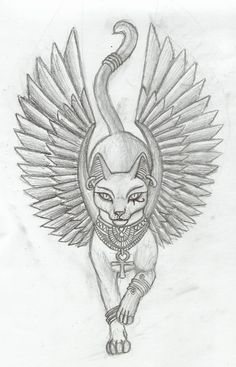 Bastet was the daughter of isis and osiris. Egyptian Goddess Tattoo, Egyptian Cat Tattoos, Egyptian Drawings, Egyptian Cats, Egyptian Symbols, Egyptian Symbol Tattoo, Mayan Symbols, Viking Symbols, Viking Runes
