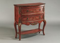 Traditional Chili Wood Hall Drawer Chest