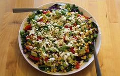 I have a thing for Big Salads. There is something about chopping up a bunch of…