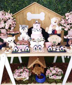 Dog Themed Parties, Puppy Birthday Parties, Puppy Party, Dog Birthday, Birthday Party Themes, Animal Birthday, Animal Party, Nyx, Ideas