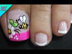Toe Nail Flower Designs, Nail Art Designs, Flower Nails, Toe Nails, Pedicure, Lip Balm, Hair Beauty, Nail Art, Designed Nails