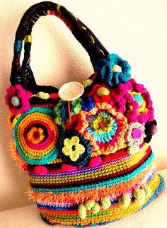 Beautiful crochet bag!